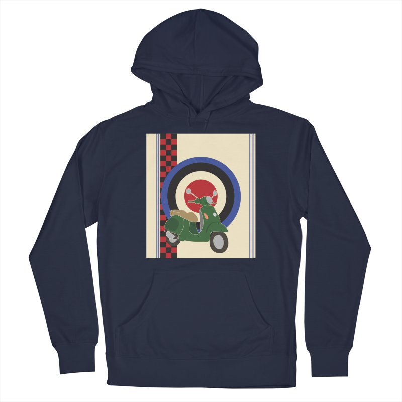 Mod scooter with symbols Men's Pullover Hoody by snapdragon64's Shop