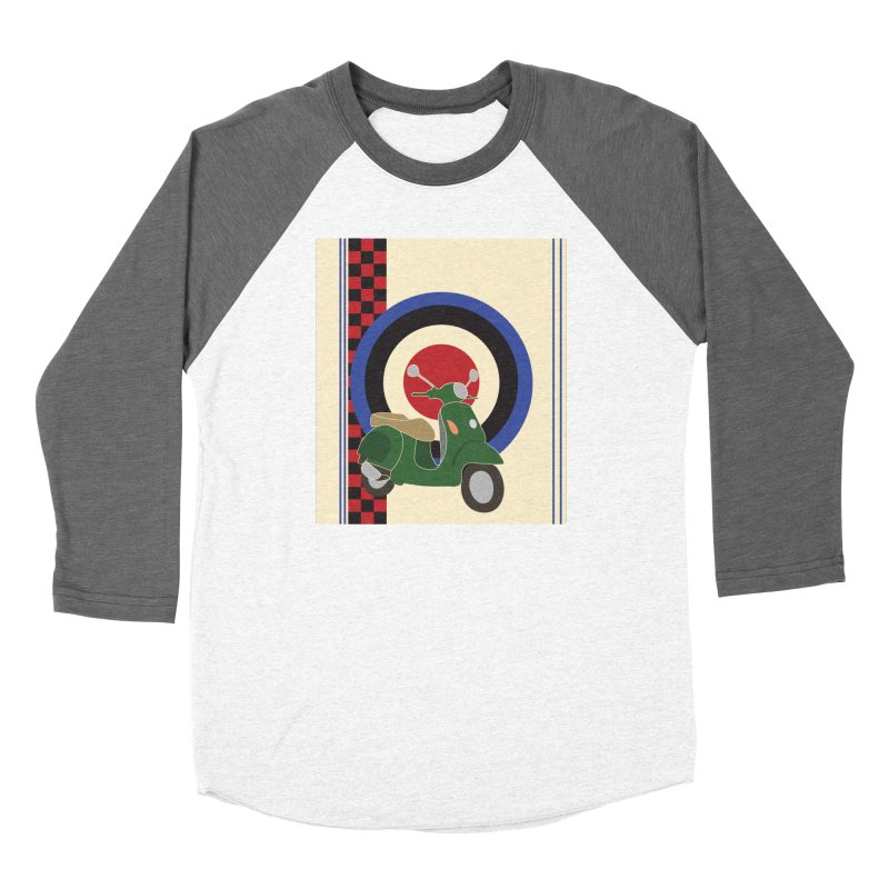 Mod scooter with symbols Women's Longsleeve T-Shirt by snapdragon64's Shop