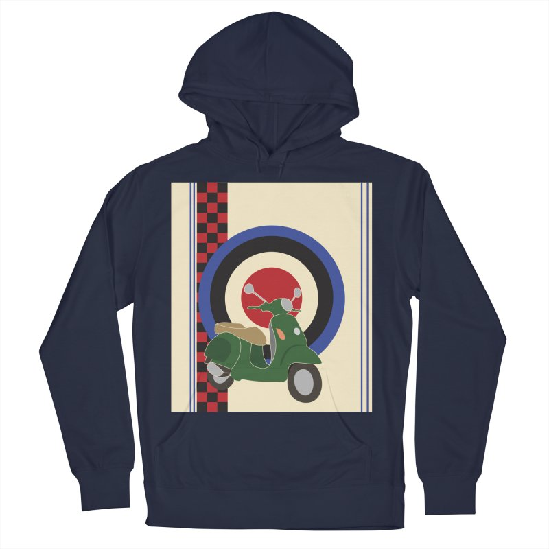 Mod scooter with symbols Men's French Terry Pullover Hoody by snapdragon64's Shop