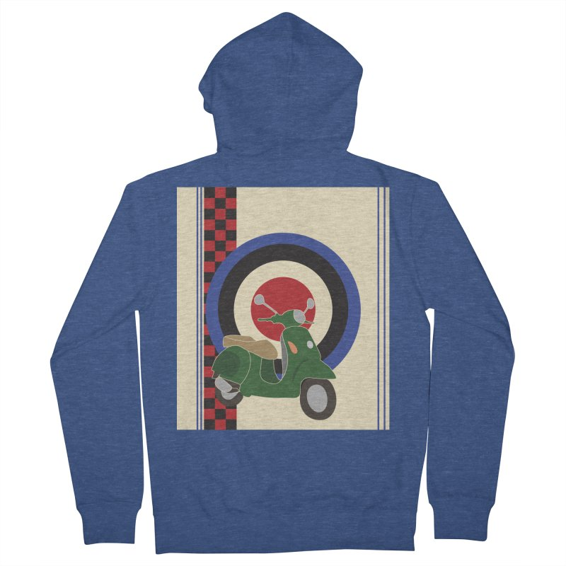 Mod scooter with symbols Women's Zip-Up Hoody by snapdragon64's Shop
