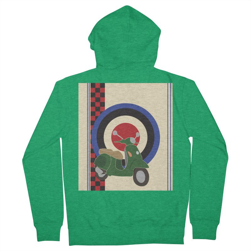 Mod scooter with symbols Men's Zip-Up Hoody by snapdragon64's Shop