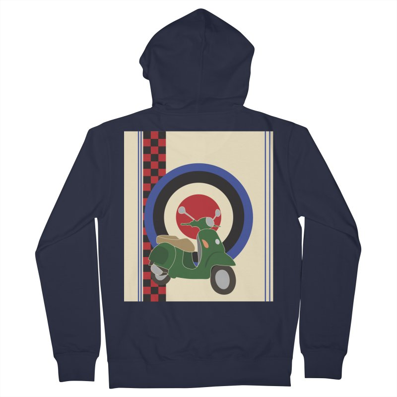 Mod scooter with symbols Men's French Terry Zip-Up Hoody by snapdragon64's Shop