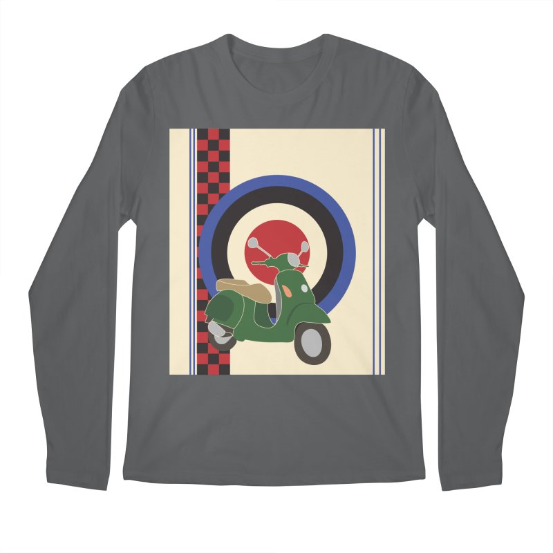 Mod scooter with symbols Men's Longsleeve T-Shirt by snapdragon64's Shop