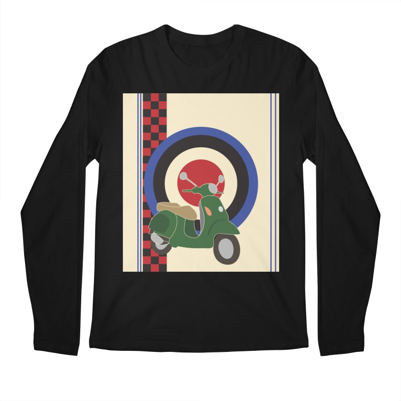 Mod scooter with symbols Men's Regular Longsleeve T-Shirt by snapdragon64's Shop
