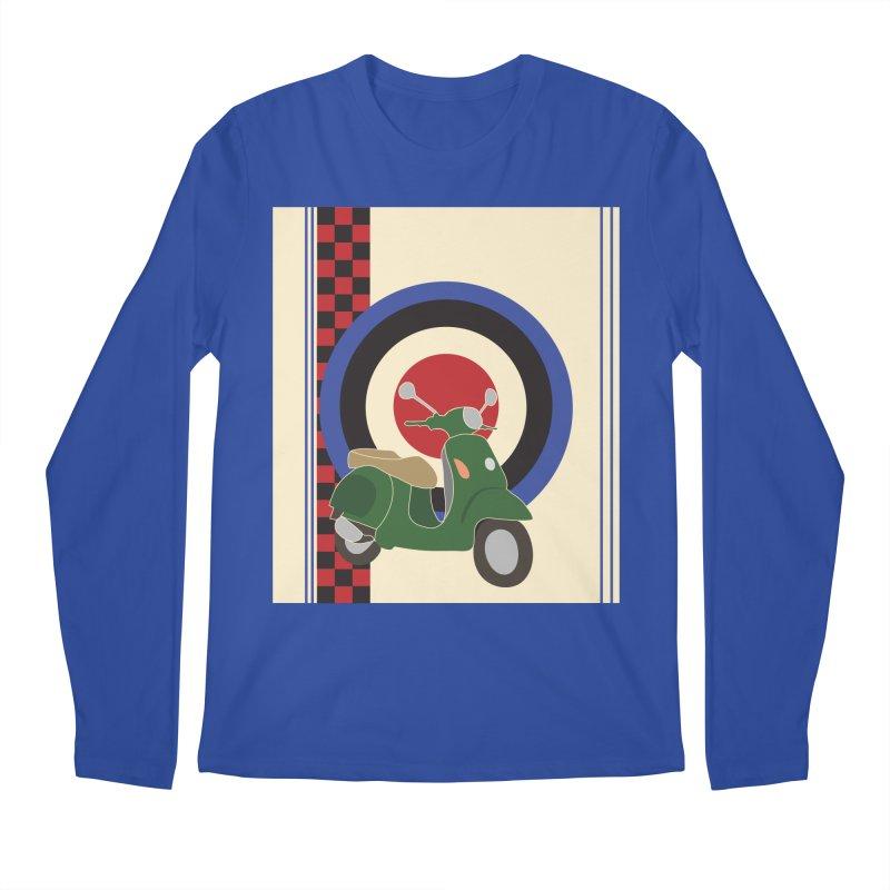 Mod scooter with symbols Men's Regular Longsleeve T-Shirt by snapdragon64's Shop