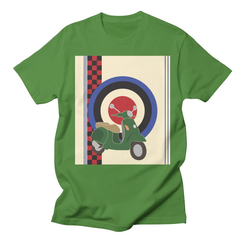 Mod scooter with symbols Men's Regular T-Shirt by snapdragon64's Shop
