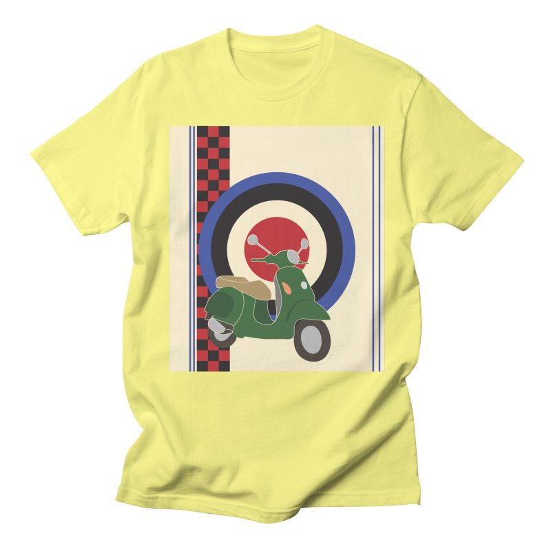 Mod scooter with symbols Men's Regular T-Shirt by snapdragon64's Shop