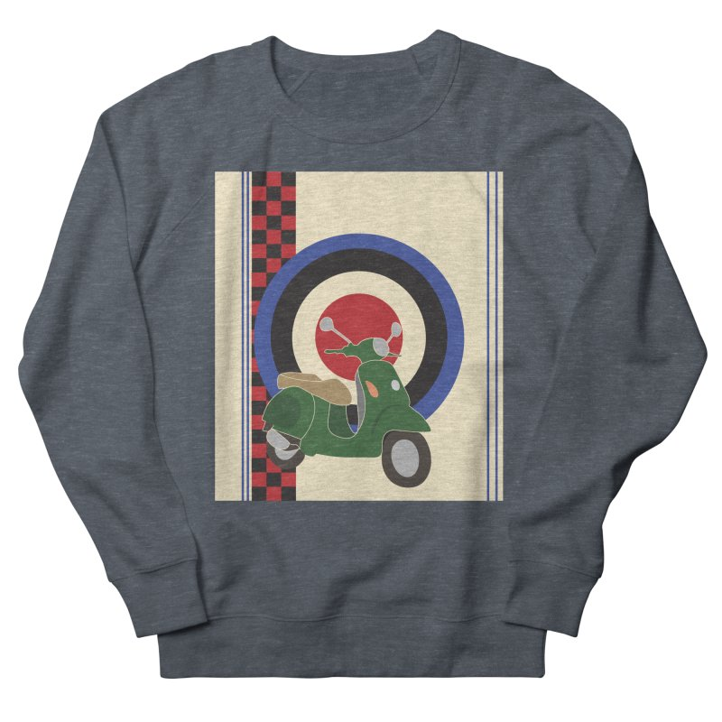 Mod scooter with symbols Women's Sweatshirt by snapdragon64's Shop