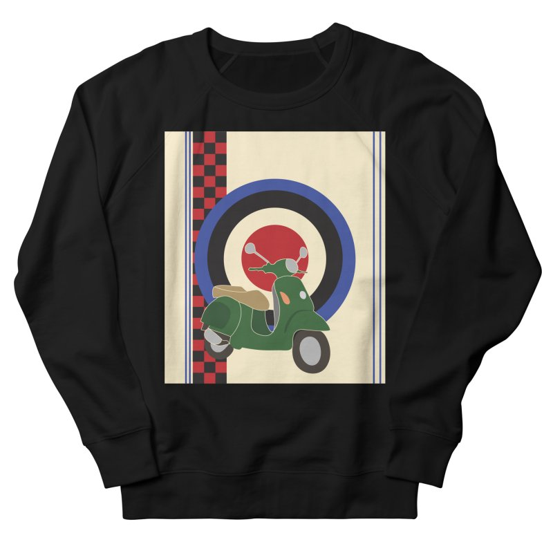 Mod scooter with symbols Women's French Terry Sweatshirt by snapdragon64's Shop