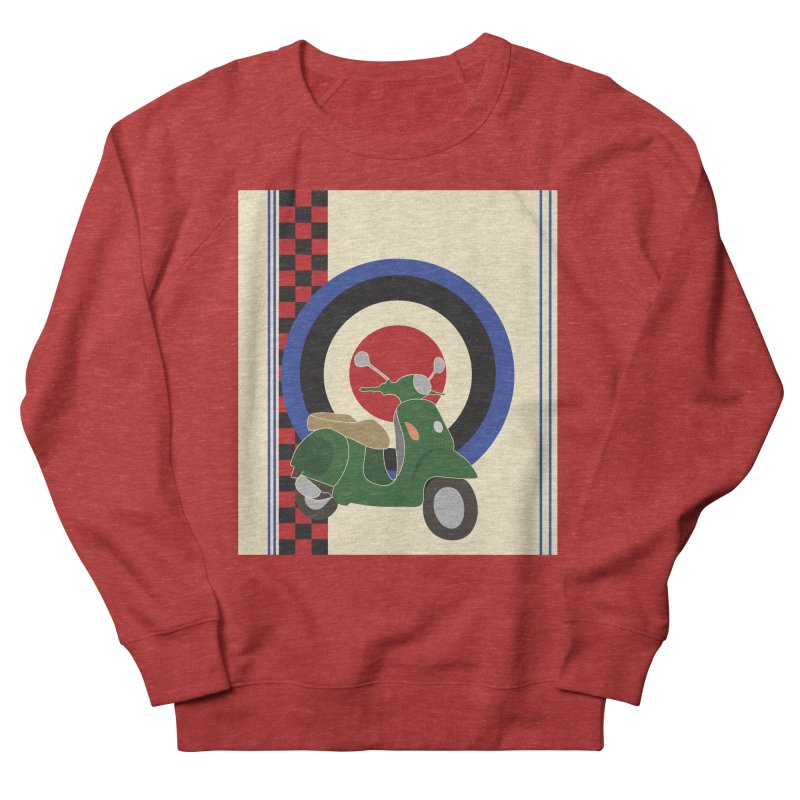 Mod scooter with symbols Men's French Terry Sweatshirt by snapdragon64's Shop