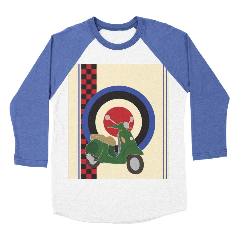 Mod scooter with symbols Women's Baseball Triblend T-Shirt by snapdragon64's Shop