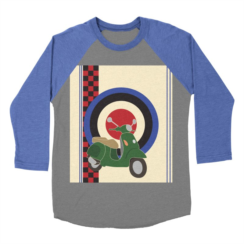 Mod scooter with symbols Women's Baseball Triblend Longsleeve T-Shirt by snapdragon64's Shop