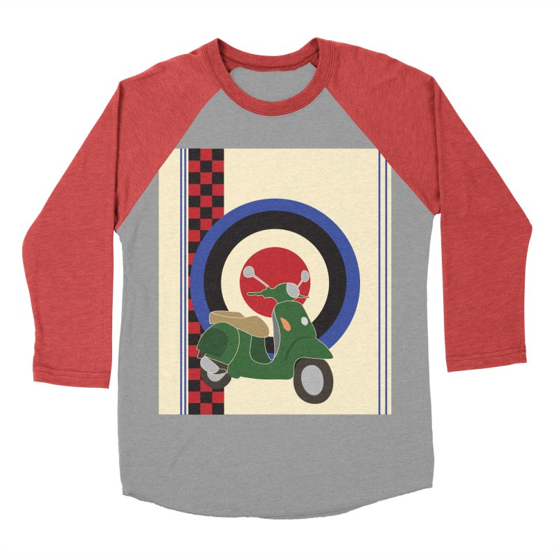 Mod scooter with symbols Men's Baseball Triblend T-Shirt by snapdragon64's Shop