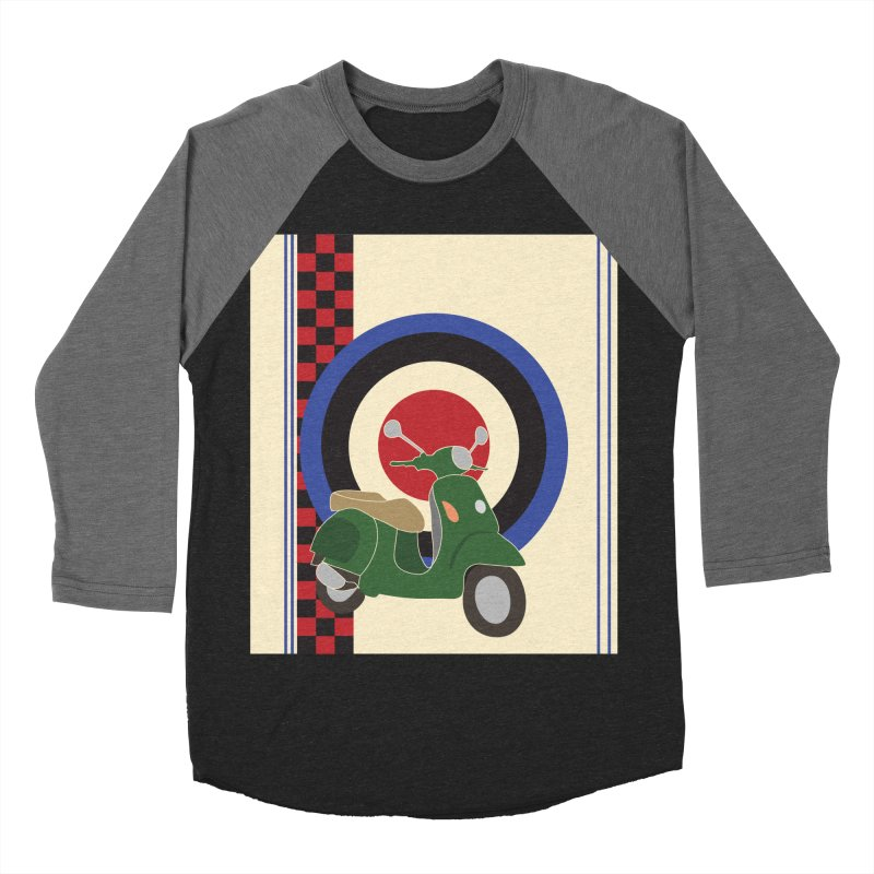 Mod scooter with symbols Men's Baseball Triblend Longsleeve T-Shirt by snapdragon64's Shop