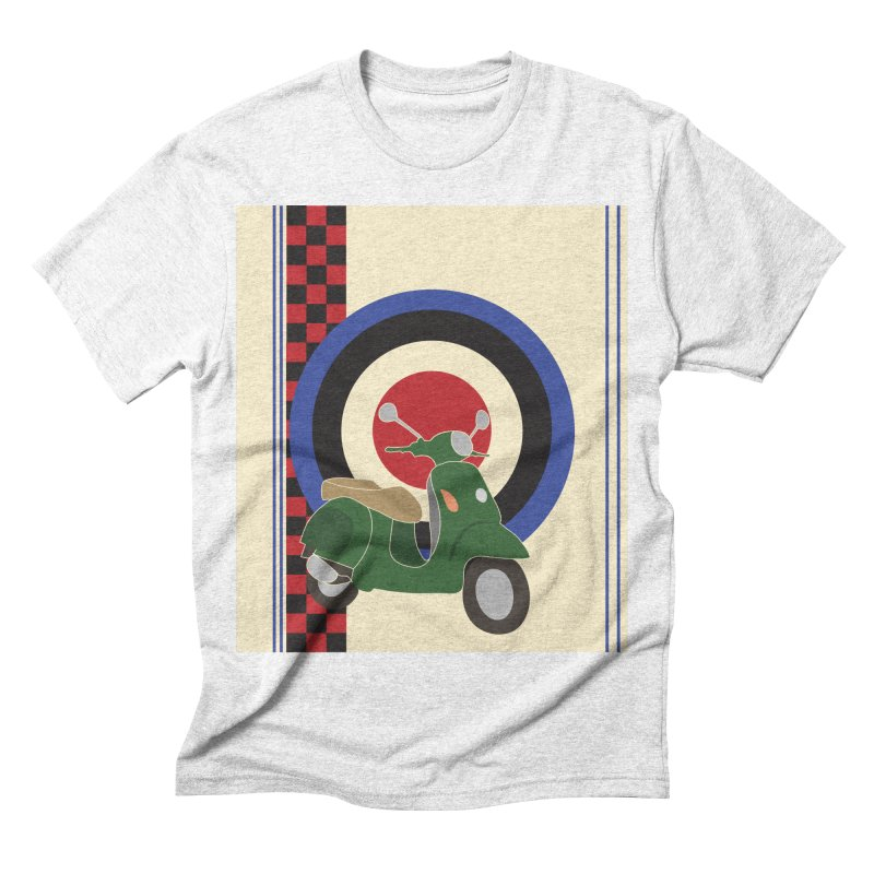 Mod scooter with symbols Men's Triblend T-shirt by snapdragon64's Shop