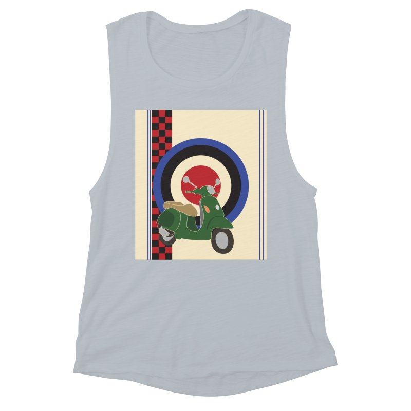 Mod scooter with symbols Women's Muscle Tank by snapdragon64's Shop