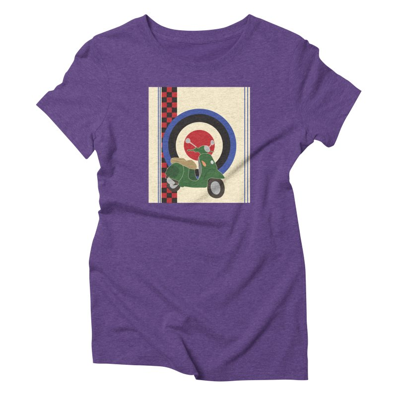 Mod scooter with symbols Women's T-Shirt by snapdragon64's Shop