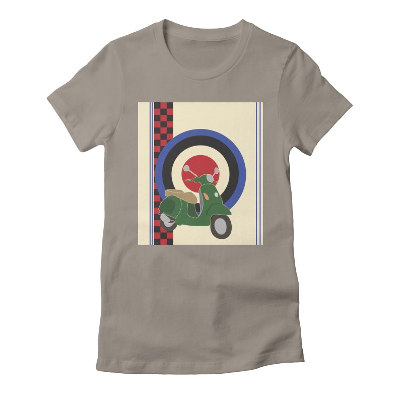 Mod scooter with symbols Women's Fitted T-Shirt by snapdragon64's Shop