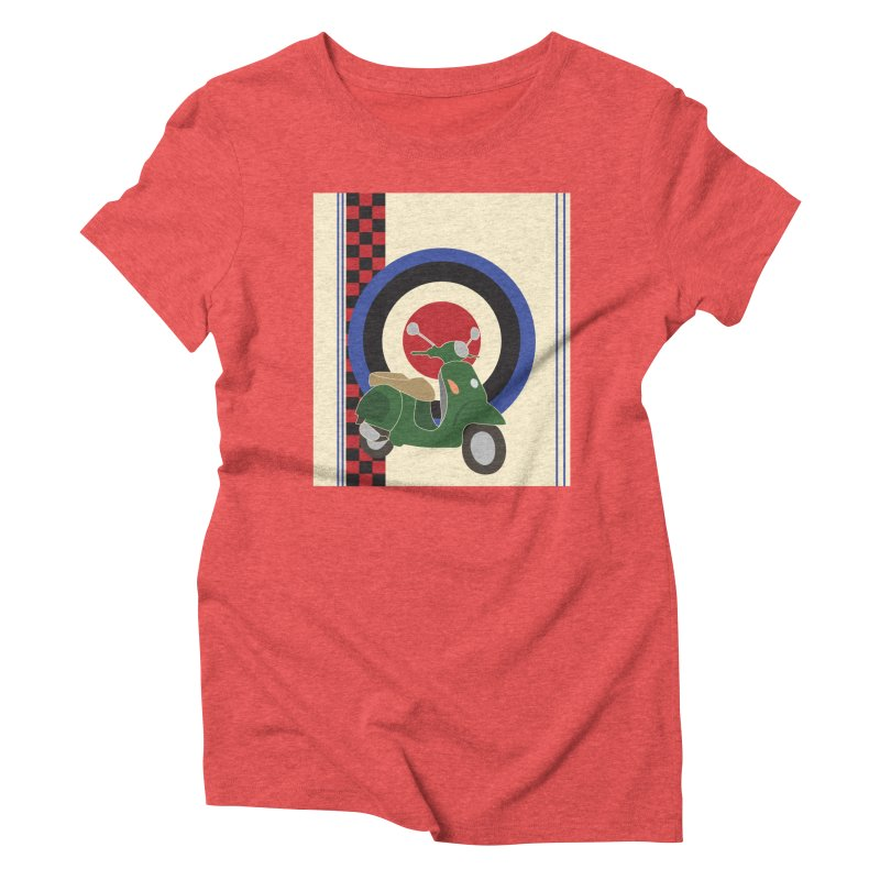 Mod scooter with symbols Women's Triblend T-Shirt by snapdragon64's Shop