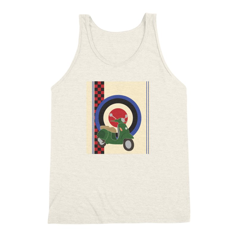 Mod scooter with symbols Men's Triblend Tank by snapdragon64's Shop