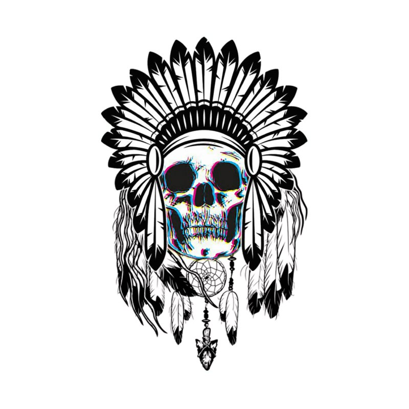 Skull Chief Home Shower Curtain by Sneaky Nieky's Artist Shop