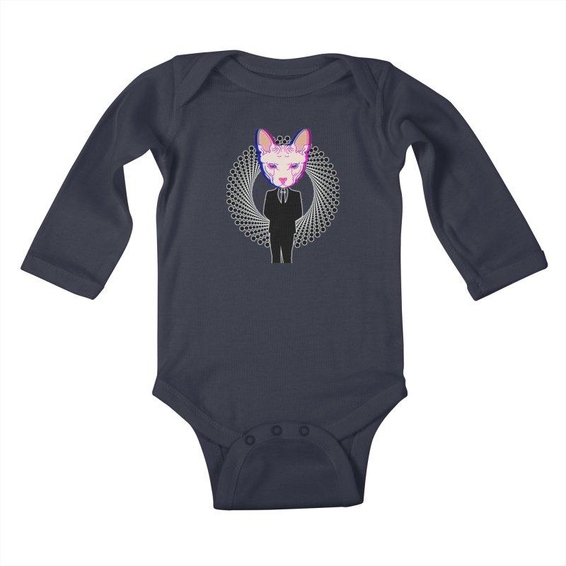 Spynx Boss Kids Baby Longsleeve Bodysuit by Sneaky Nieky's Artist Shop