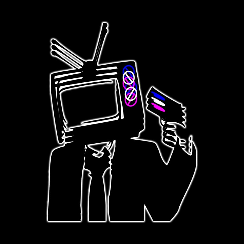 TV Killer Men's T-Shirt by Sneaky Nieky's Artist Shop