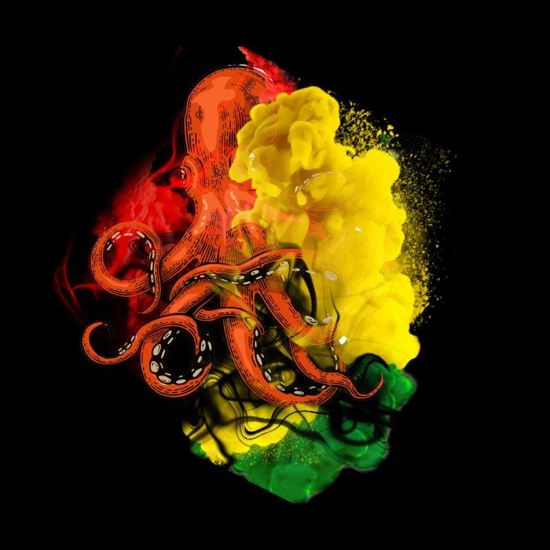 Reggae Octopus Inked Men's T-Shirt by Sneaky Nieky's Artist Shop
