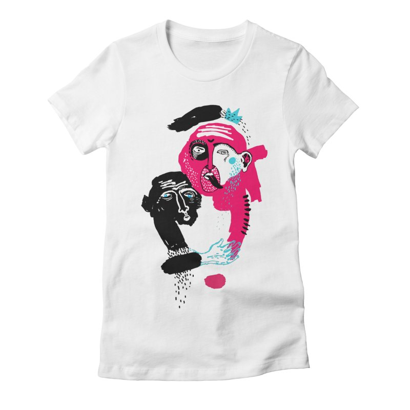 Lovers I Women's Fitted T-Shirt by Snezana Pupovic SNEP