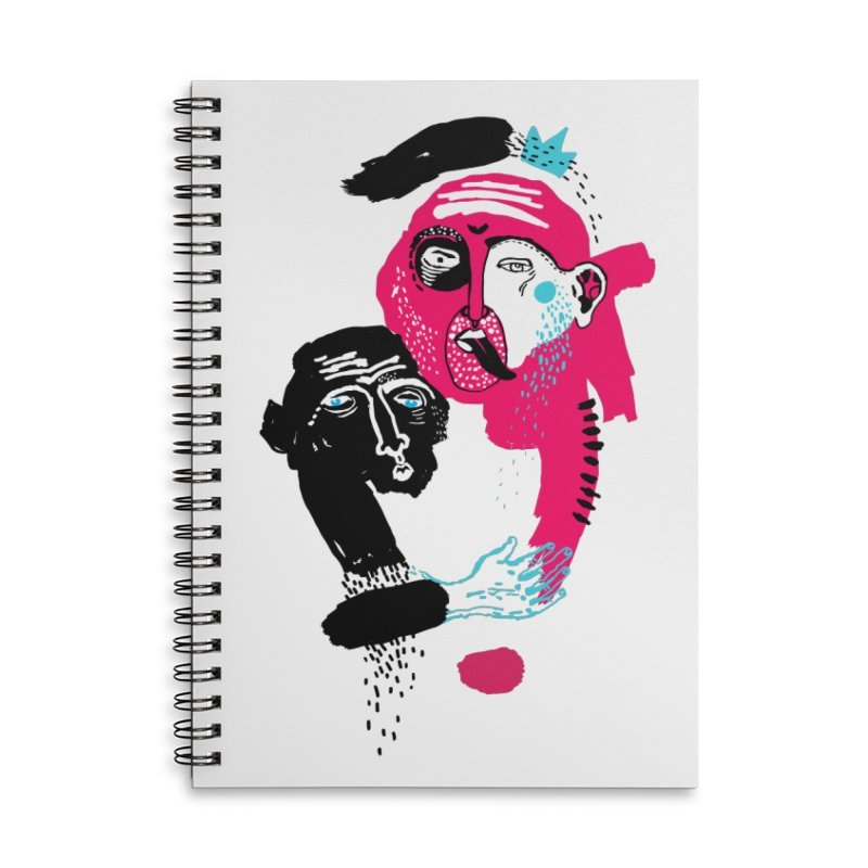 Lovers I Accessories Lined Spiral Notebook by Snezana Pupovic SNEP