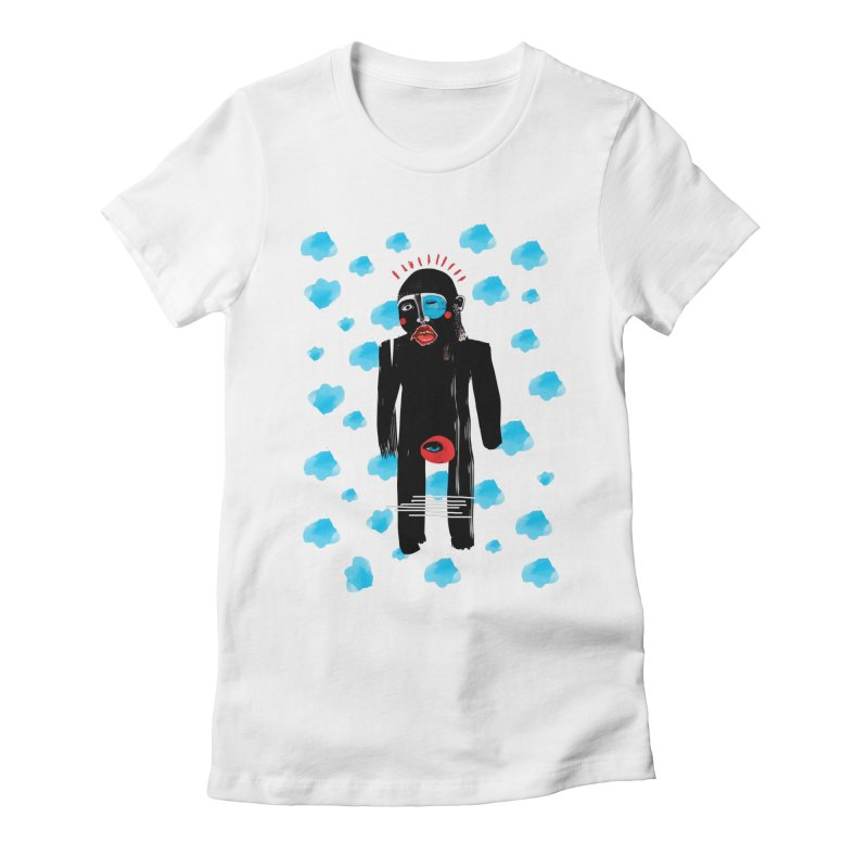 Man From Cloud Women's Fitted T-Shirt by Snezana Pupovic SNEP