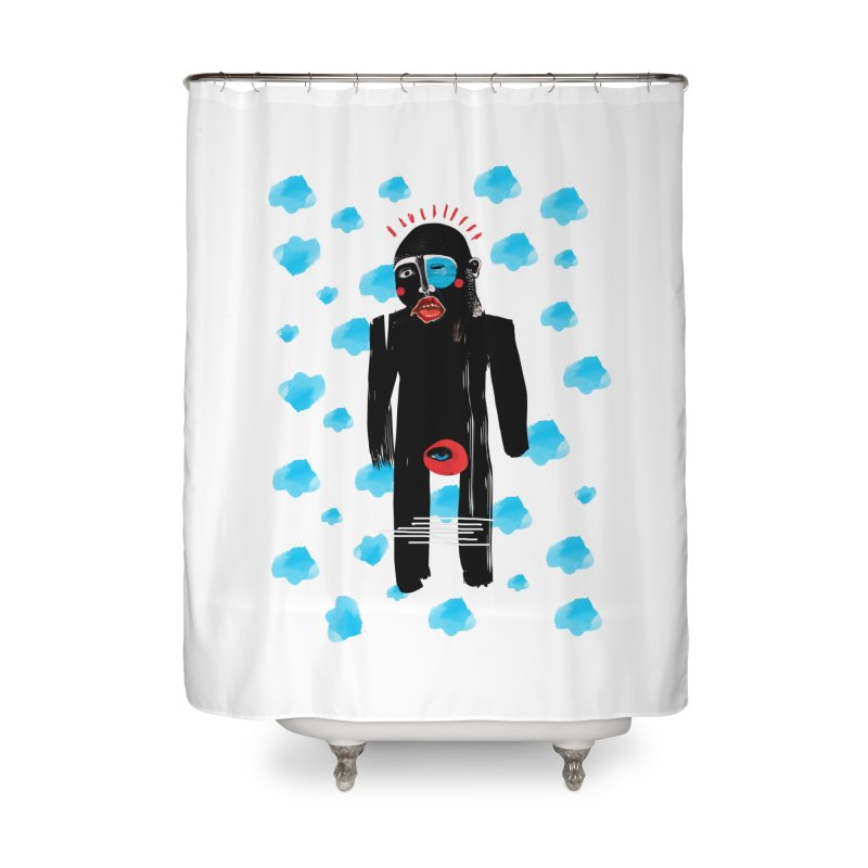 Man From Cloud Home Shower Curtain by Snezana Pupovic SNEP
