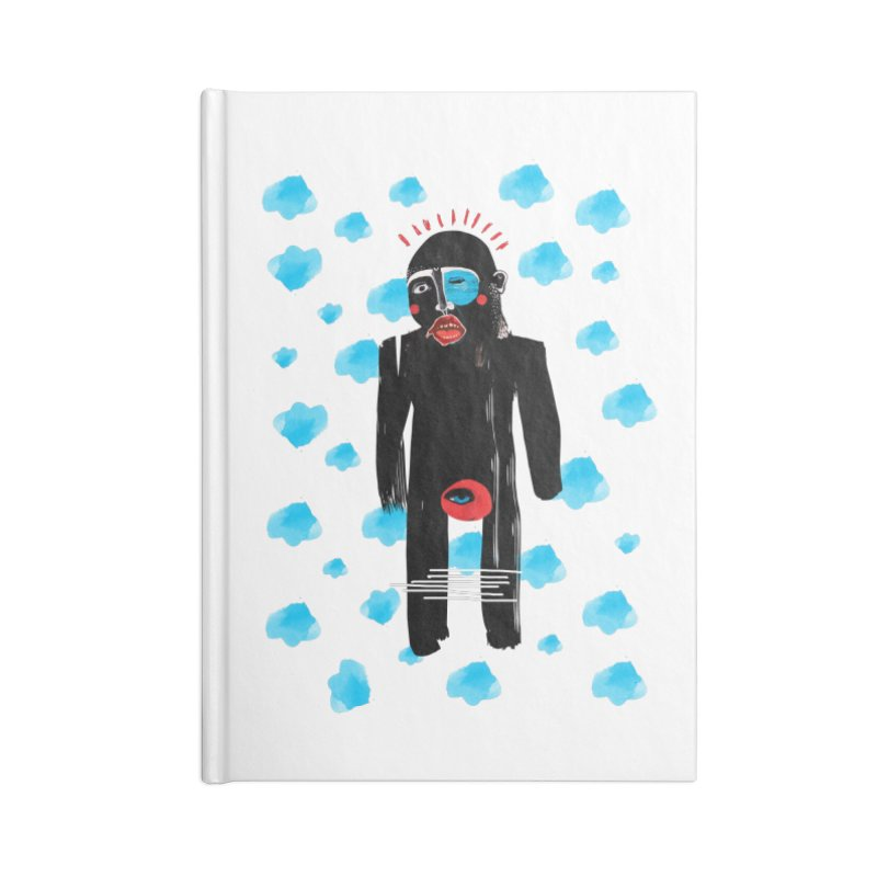 Man From Cloud Accessories Lined Journal Notebook by Snezana Pupovic SNEP