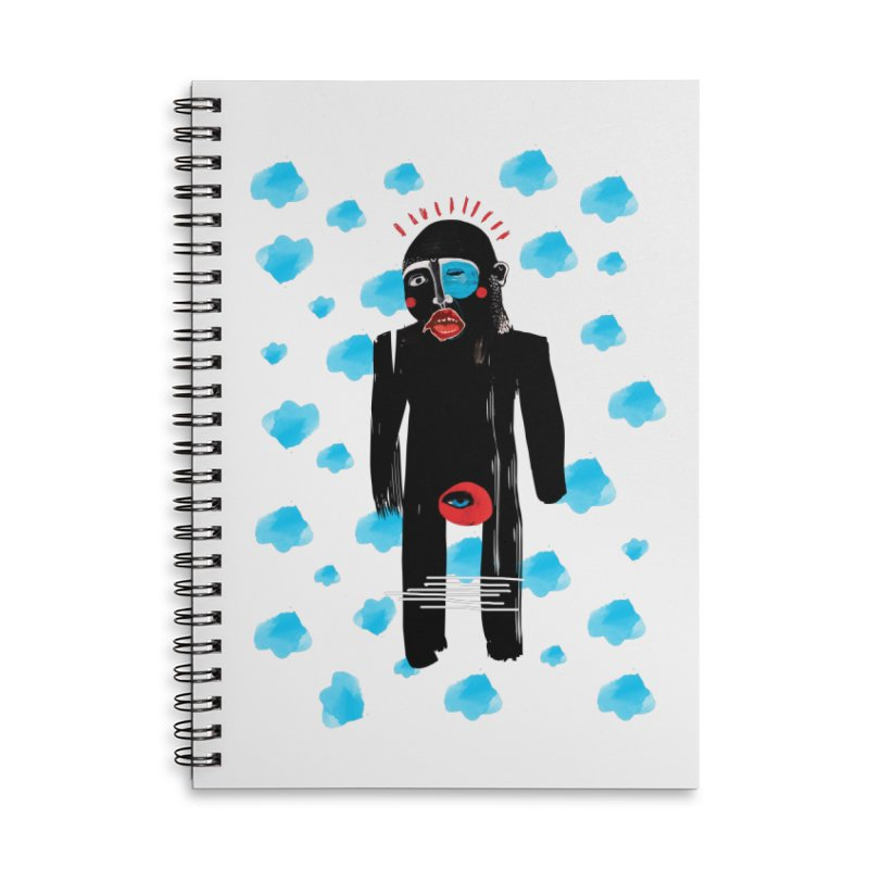 Man From Cloud Accessories Lined Spiral Notebook by Snezana Pupovic SNEP