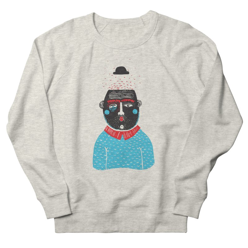 Portrait of One Nostalgic Man Men's French Terry Sweatshirt by Snezana Pupovic SNEP