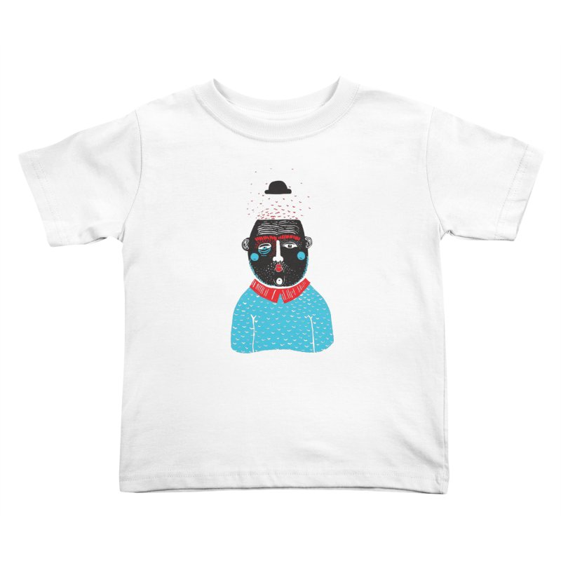 Portrait of One Nostalgic Man Kids Toddler T-Shirt by Snezana Pupovic SNEP