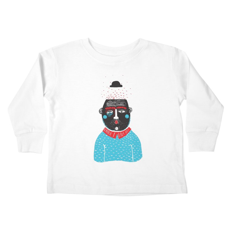 Portrait of One Nostalgic Man Kids Toddler Longsleeve T-Shirt by Snezana Pupovic SNEP