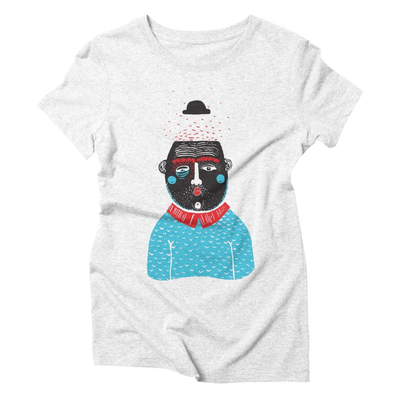 Portrait of One Nostalgic Man Women's Triblend T-shirt by Snezana Pupovic SNEP