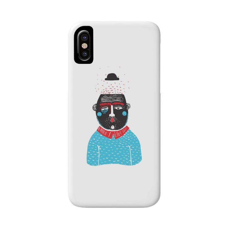 Portrait of One Nostalgic Man Accessories Phone Case by Snezana Pupovic SNEP
