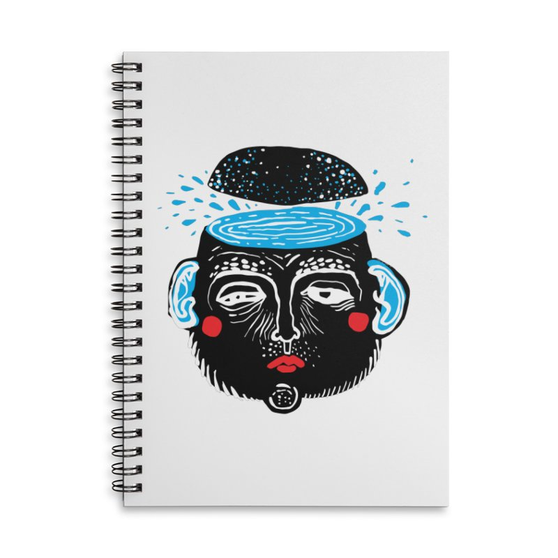 Puddle Accessories Lined Spiral Notebook by Snezana Pupovic SNEP