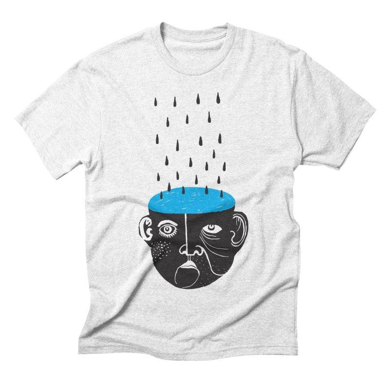 Rainy Brain Men's Triblend T-shirt by Snezana Pupovic SNEP