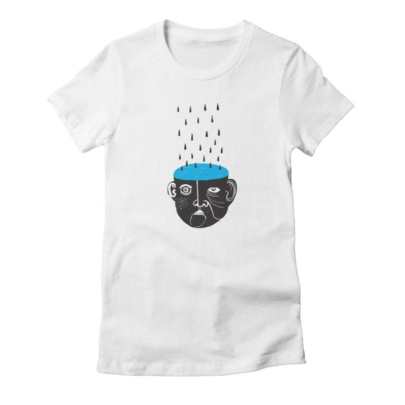 Rainy Brain Women's T-Shirt by Snezana Pupovic SNEP