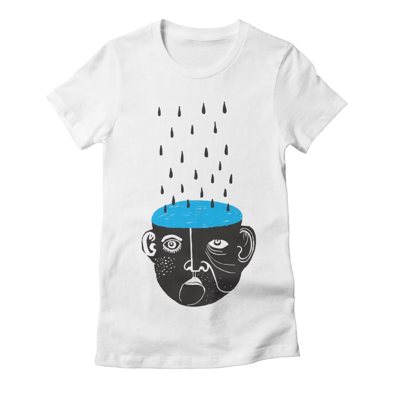 Rainy Brain Women's Fitted T-Shirt by Snezana Pupovic SNEP