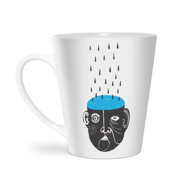 Rainy Brain Accessories Latte Mug by Snezana Pupovic SNEP