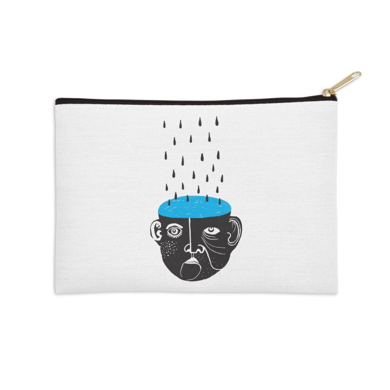 Rainy Brain Accessories Zip Pouch by Snezana Pupovic SNEP
