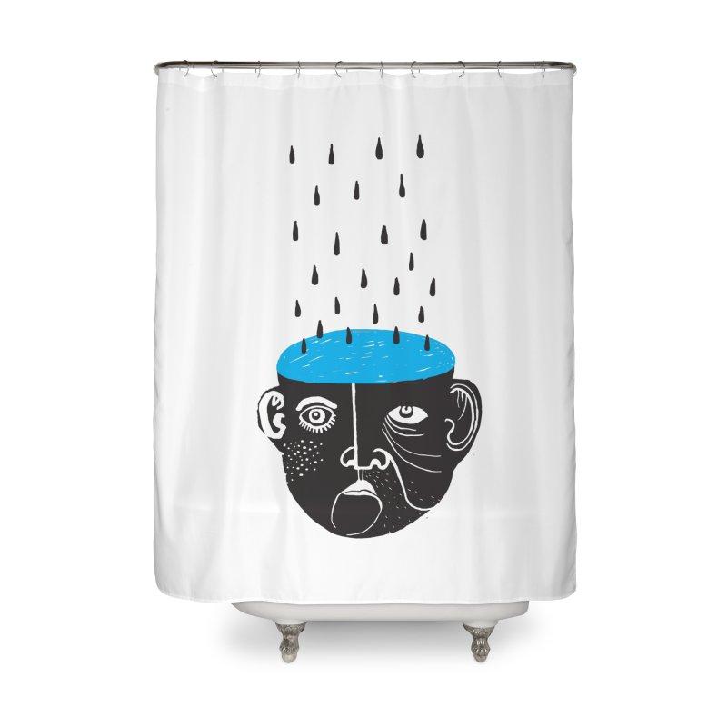 Rainy Brain Home Shower Curtain by Snezana Pupovic SNEP