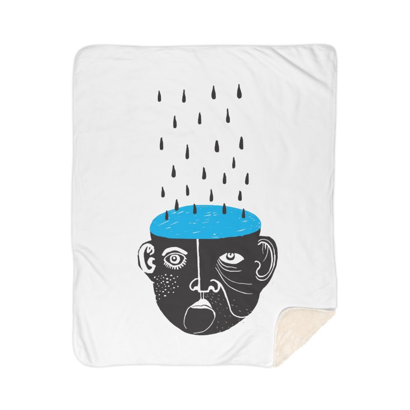 Rainy Brain Home Sherpa Blanket Blanket by Snezana Pupovic SNEP