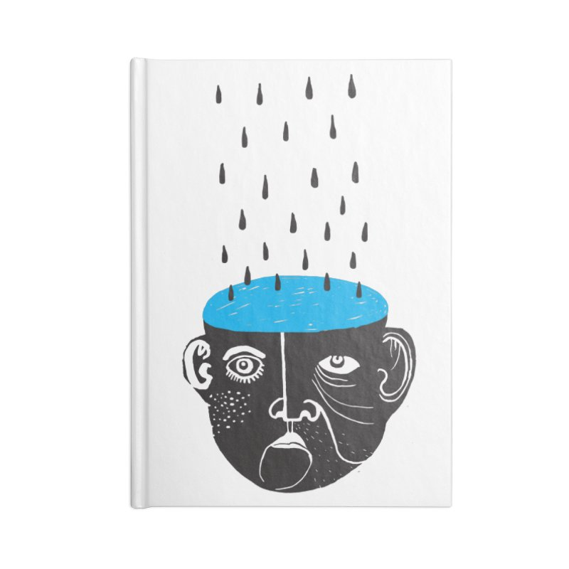 Rainy Brain Accessories Blank Journal Notebook by Snezana Pupovic SNEP