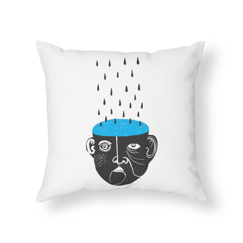 Rainy Brain Home Throw Pillow by Snezana Pupovic SNEP
