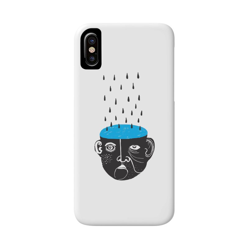 Rainy Brain Accessories Phone Case by Snezana Pupovic SNEP